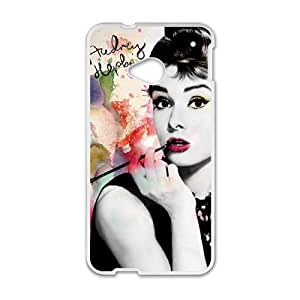 Happy Audrey Hepburn Brand New And Custom Hard Case Cover Protector For HTC One M7