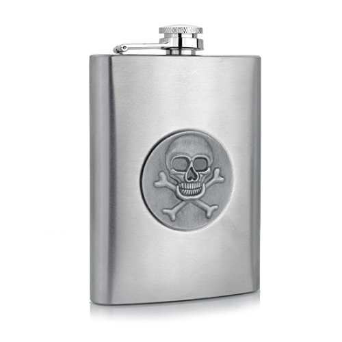 Stainless Steel 10oz Hip Drink Liquor Whisky Alcohol Flask Screw Funnel Cap - 7
