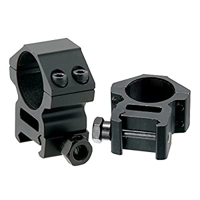 UTG AccuShot Picatinny/Weaver Medium Profile 2-Piece 1-inch Rings