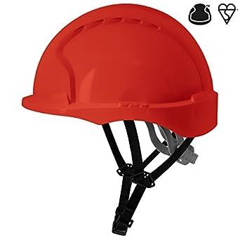 JSP ajg250 – 000 – 600 EVO3 Linesman antideslizante de carraca casco, color rojo