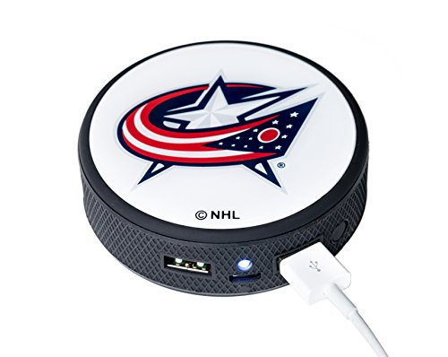 UPI Marketing NHL Columbus Blue Jackets Remote Phone Charger, Black
