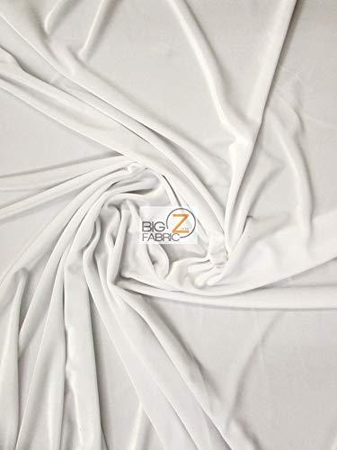 Big Z Fabric Stretch Velvet Velour Spandex 360 Grams Costume Fabric by The Yard DIY Dress Fashion Accessories Decor Apparel (Snow White)]()