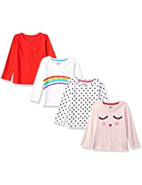 Girls' 4-Pack Long-Sleeve T-Shirts