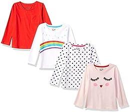 Girls 4-Pack Long-Sleeve T-Shirts