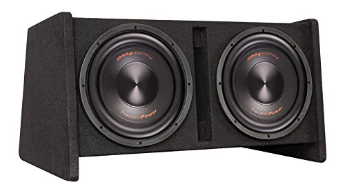 (Precision Power PPI SNBX.212 Loaded Vented Enclosure w/ 800w Class D Amplifier and Dual 12-Inch Sedona Subwoofers)