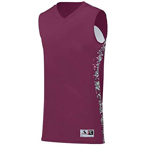 Augusta Sportswear Boys Hook Shot Reversible Jersey, Maroon/