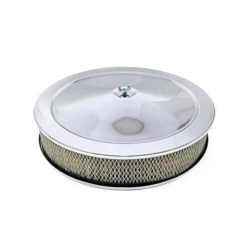 Assault Racing Products A2195C-BOX 14 x 3 Round Chrome Air Cleaner Assembly with Drop Base