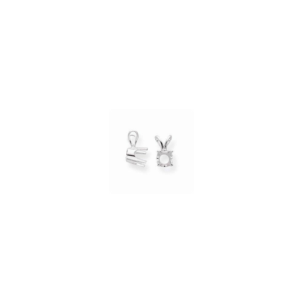 FB Jewels 14K White Gold Round 4-Prong Medium Weight .04ct Pendant Setting