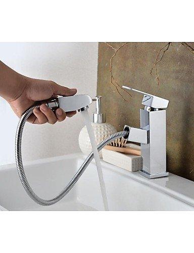 massivem Messing verchromt einzigen Handgriff Einlochmontage hei?es und kaltes Wasser Waschbecken Wasserhahn 2505