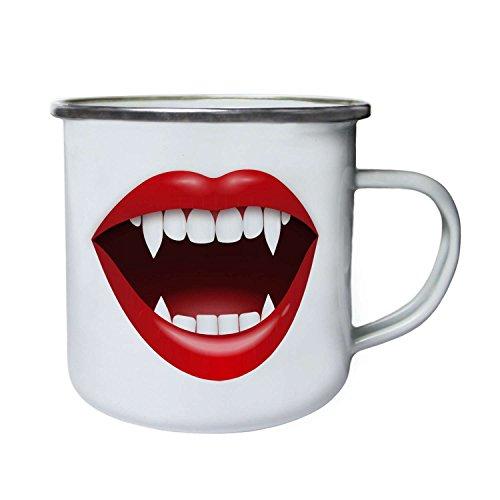 Vampire kiss smile Lipps Novelty gift Retro,Tin, Enamel 10oz Mug p58e