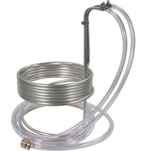 Eagle Brewing WC111 Stainless Steel Wort Chiller with Tubing, 25' x 3/8 by Eagle
