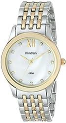 Armitron Women's 75/5240MPTT Swarovski Crystal Accented Dial Two-Tone Bracelet Watch
