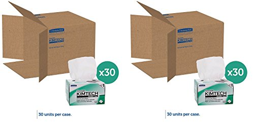 Kimwipes Delicate Task Kimtech Science Wipers (34120), White, 1-PLY, 30 Pop-Up Boxes / Case, 280 Sheets / Box, 8,400 Sheets / Case (2 PACK) by Kimberly-Clark Professional