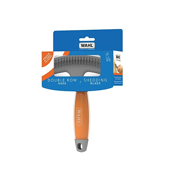 Wahl Double Row Rake and Shedding Blade with Soft Grip Gel Handle 4