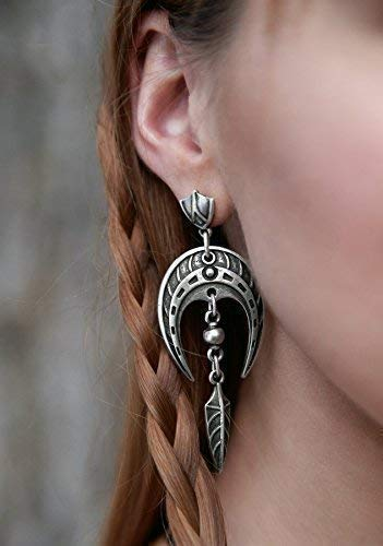 (Celtic Viking Statement earrings Horseshoe earrings Nordic viking silver-plated with arrowhead pendants FREE SHIPPING)
