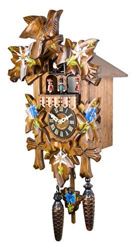 Engstler Quartz Cuckoo Clock - Alpine Flowers Handpainted