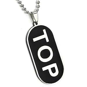 "TTKP ""Top"" Comical Gay Pride Black Dog Tag Necklace Lgbt Men'S Gay Pride Jewelry Qe89-1"