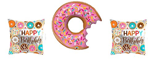 3 Donut Party Balloons - 1 36