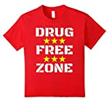 Kids Drug Free Zone T Shirt 10 Red