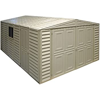 Duramax 01014 Vinyl Garage Shed With Foundation And Window, 10 By 15.5 Inch