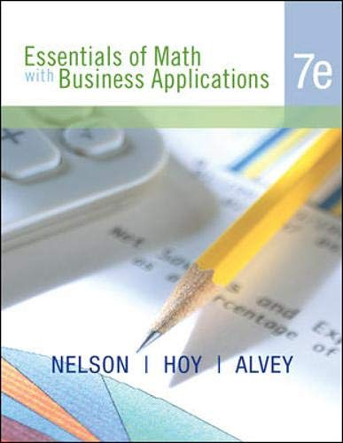Essentials of Math with Business Applications, Student...