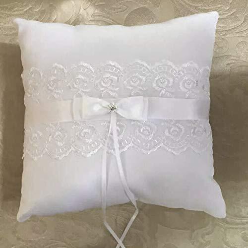 PETUNIA Almohada de Anillo de satén Blanco 20 * 20 cm Cojín ...