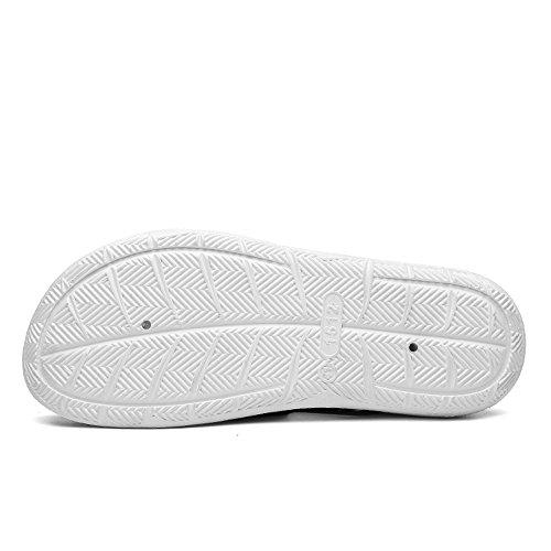 Nero Color Sunny uomo sandalo piatto tacco da Ciabatte EU esterno su cava con Antiscivolo amp;Baby Bianco piccolo Dimensione Green e da Gray sandali 40 aqnz4Brq