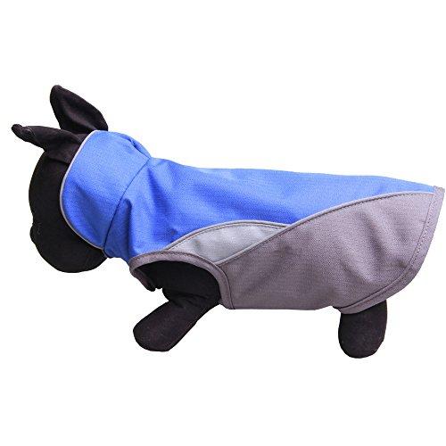 WELCOMEUNI Waterproof Dog Outdoor Reflective Jacket Coats Comfy Vest Pet Apparels Windbreaker Clothes Blue