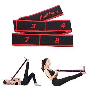 JJunLiM Bandes de Boucle d'exercice Bandes Latines Extensibles 15-20 kg Bandes élastiques de Yoga Pilates Résistance…