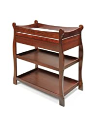 Sleigh-Style Changing Table with Drawers - Cherry BOBEBE Online Baby Store From New York to Miami and Los Angeles