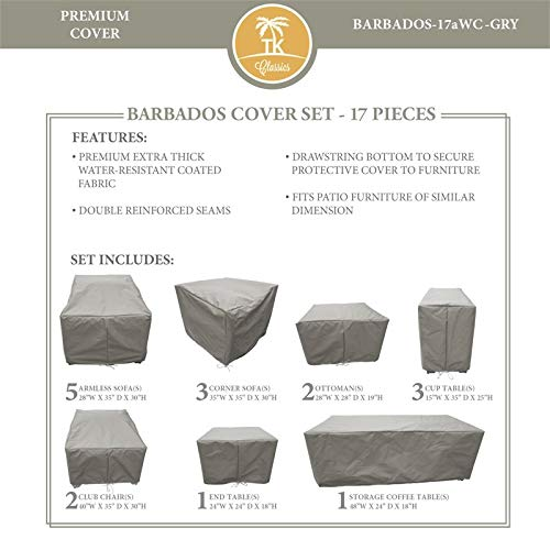 TK Classics BARBADOS-17a Protective Cover Set in Gray