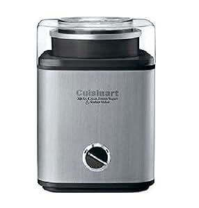 Cuisinart Pure Indulgence 2-Quart Automatic Frozen Yogurt, Sorbet, and Ice Cream Maker, Black