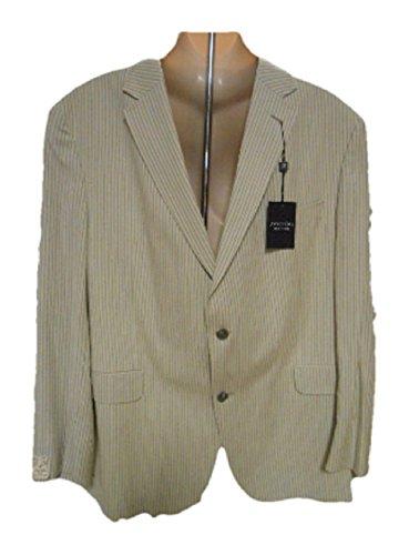 Jack-Victor-Mens-Suit-Blazer-WhiteGrey-Stripe-46R