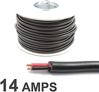 Flat 2 Core 0.75mm/² 14Amps, 10 Metres Wire4u 12V 24V AUTOMOTIVE 2//3//4//5//7 CORE THINWALL RED//BLACK CAR CABLE WIRE ROUND//FLAT