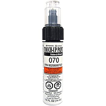 Genuine toyota 00258 00040 21 white touch up for Toyota paint touch up pen