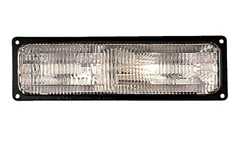 (For 1994 1995 1996 1997 1998 1999 2000 2001 2002 Chevrolet Chevy/Gmc C/K 10 | Suburban | Blazer | Yukon | Blazer | Tahoe Front Parking Signal Light Lamp Passenger Right Side Replacement GM2521128)