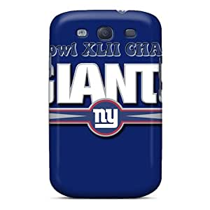 Shock-Absorbing Hard Phone Covers For Samsung Galaxy S3 (psd13540dYlq) Unique Design Stylish New York Giants Skin