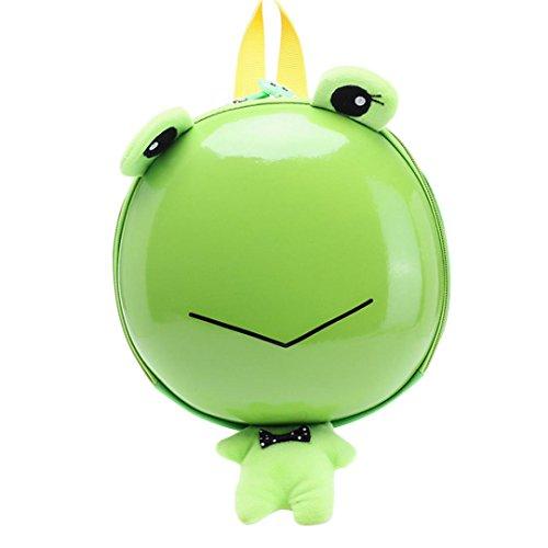 Vibola Baby Girls Boys Kids Animal Cute Cartoon Pattern Backpack Toddler School Bag (Green)