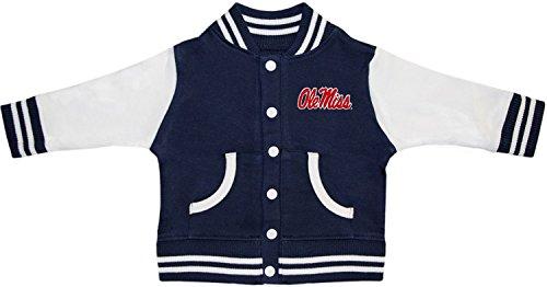 University of Mississippi Ole Miss Rebels Varsity Jacket Navy