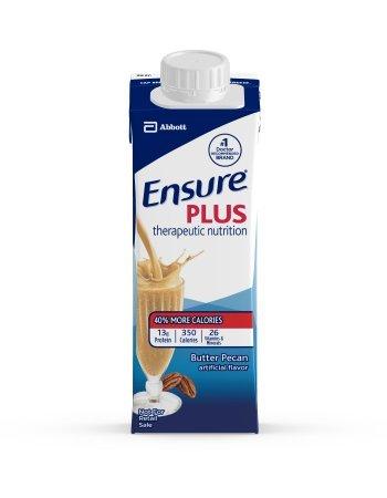 Ensure Plus Butter Pecan, 8 Ounce Recloseable Tetra Carton, Abbott 64909 - Case of 24