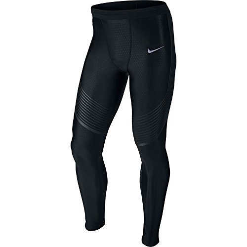 Nike Mens Power Speed Compression Running Tights Pants (2X-Large, Black)