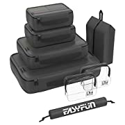 Easyfun Suitcase Organiser Bags for Travel Packing Cubes 8-Piece Water Repellant Ripstop Nylon Backpack with 2 Toiletry…
