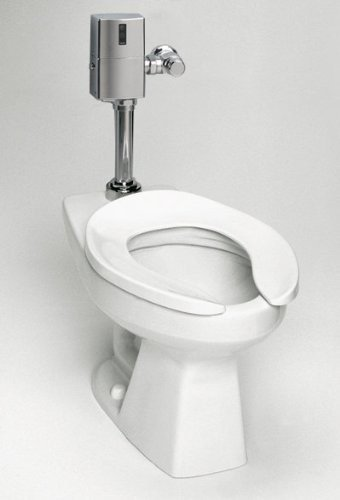 TOTO CT705UNG#01 White-CT705UNG Elongated 1.0 GPF Floor-Mounted Flushometer Toilet Bowl with Top Spud and CeFiONtect Cotton White