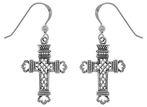 Jewelry Trends Sterling Silver Celtic Cross Dangle Earrings