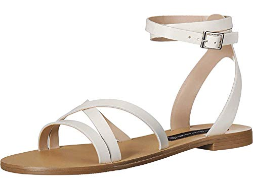 - STEVEN by Steve Madden Women's MATAS Sandal, White Leather, 7 M US
