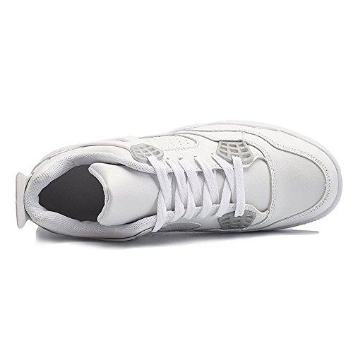 unita tinta 2018 e pizzo donna da 35 Color Dimensione Autunno shoes Bianca Sneaker tinta EU in unita Jiuyue Estate moda uomo qP1vSt