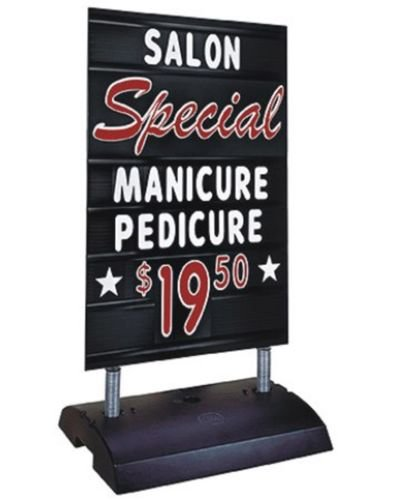 (Deluxe Black Springer Curb Sidewalk Message Board Sign with Letters)