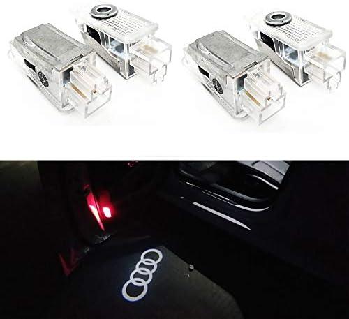 Aukur 2PCS Logo Projector Step Door Under Puddle Lights For Audi A4 A3 A6 Q7 A1 A5 TT A8 Q3 A7 R8 RS