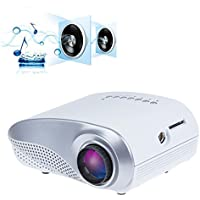 Sunsbell® Portable Projector USB SD HDMI VGA HD Laptop LED Video 720P Mini Projector 60 Lumens