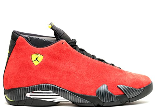 94f42a9cb37 Jordan Air 14 Retro Ferrari Men's Shoes Challenge Red/Vibrant Yellow/ Anthracite/Black 654459-670